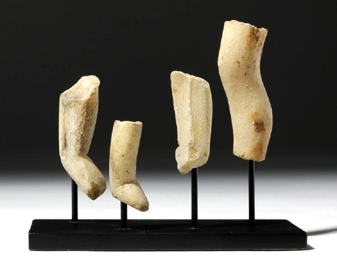 Four Greek Cycladic Marble Legs - Rare!
