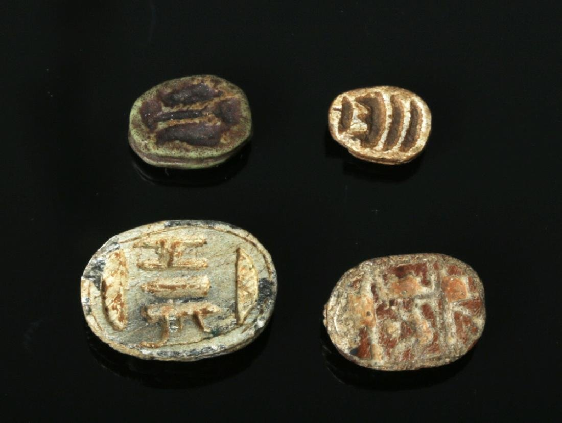 Four Ancient Egyptian Steatite Scarabs - 2