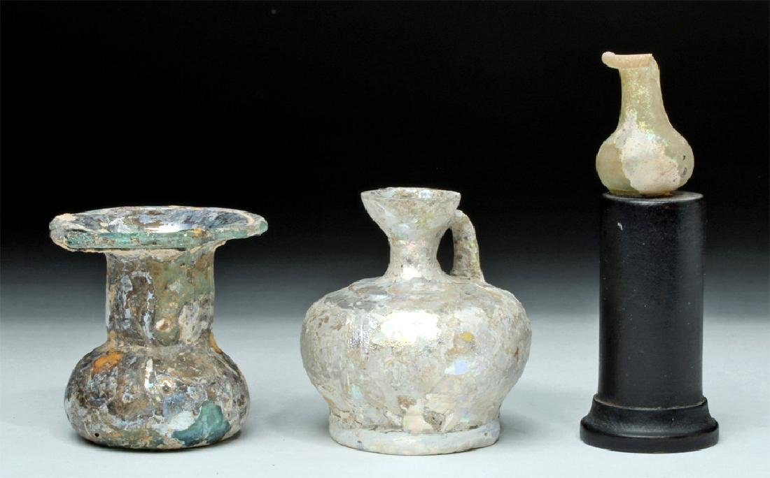Trio of Roman Glass Vessels