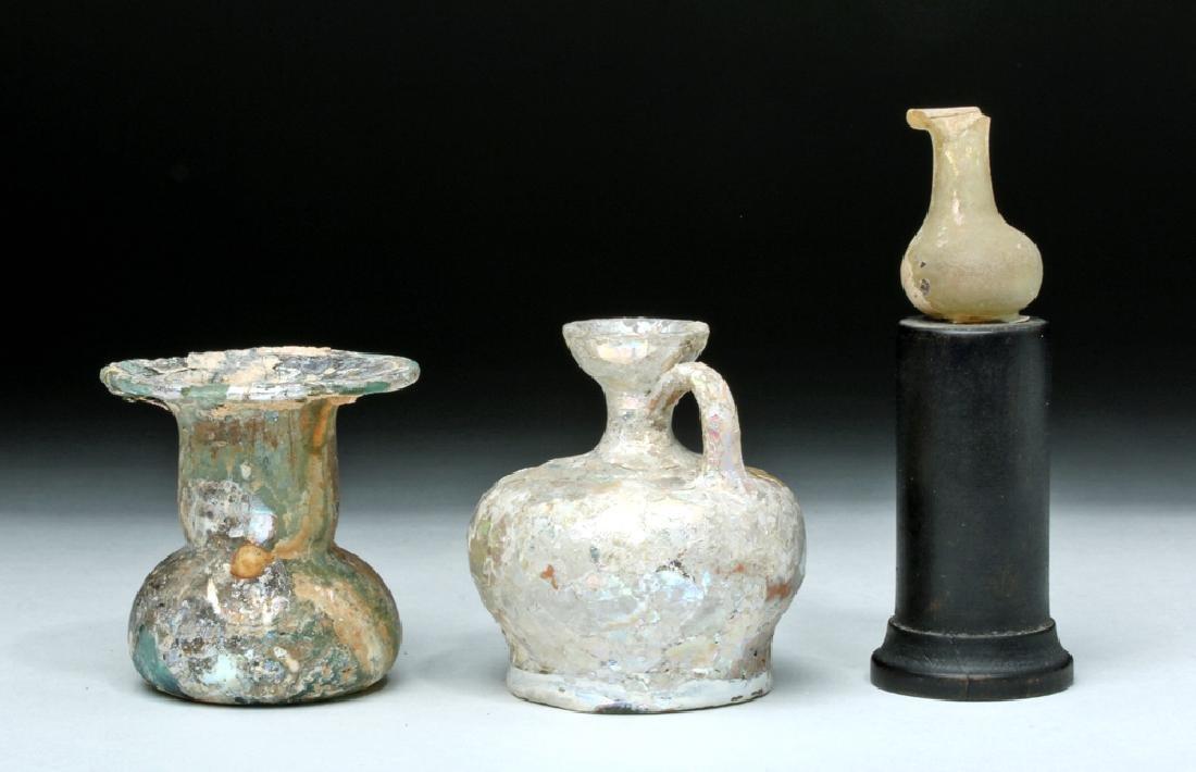Trio of Roman Glass Vessels - 2