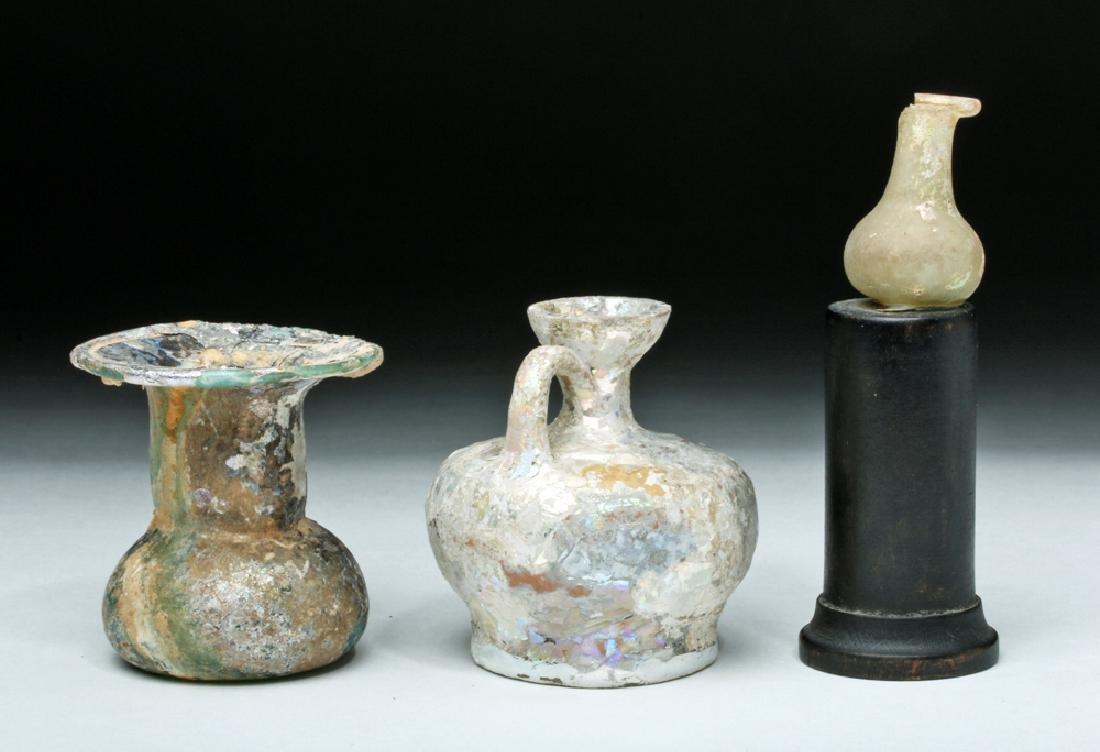 Trio of Roman Glass Vessels - 3