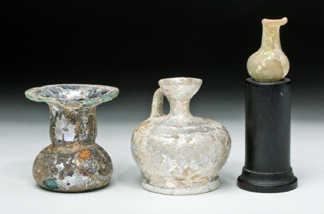 Trio of Roman Glass Vessels - 4
