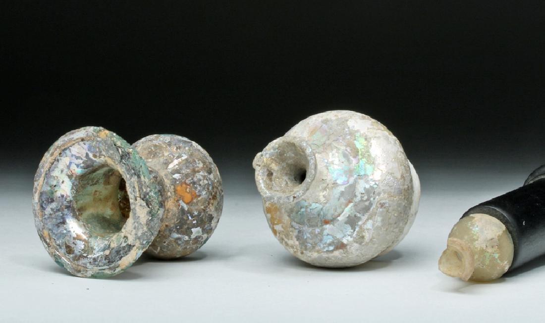 Trio of Roman Glass Vessels - 5