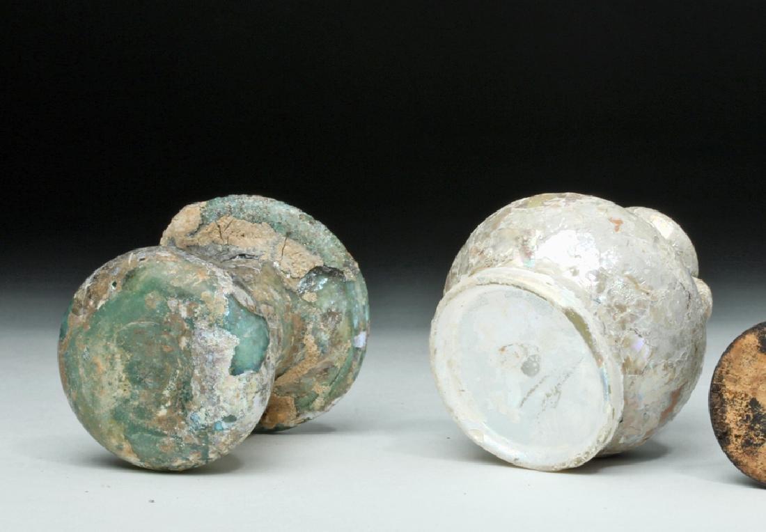 Trio of Roman Glass Vessels - 6