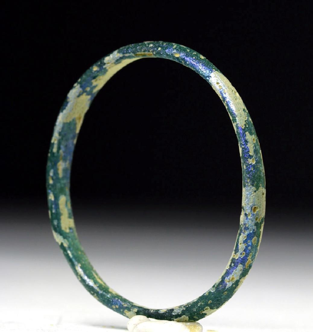 Petite Roman Blue-Green Glass Bracelet - 2