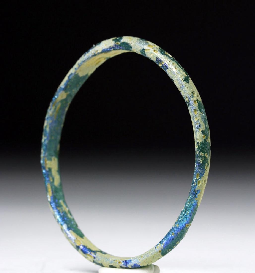 Petite Roman Blue-Green Glass Bracelet - 4