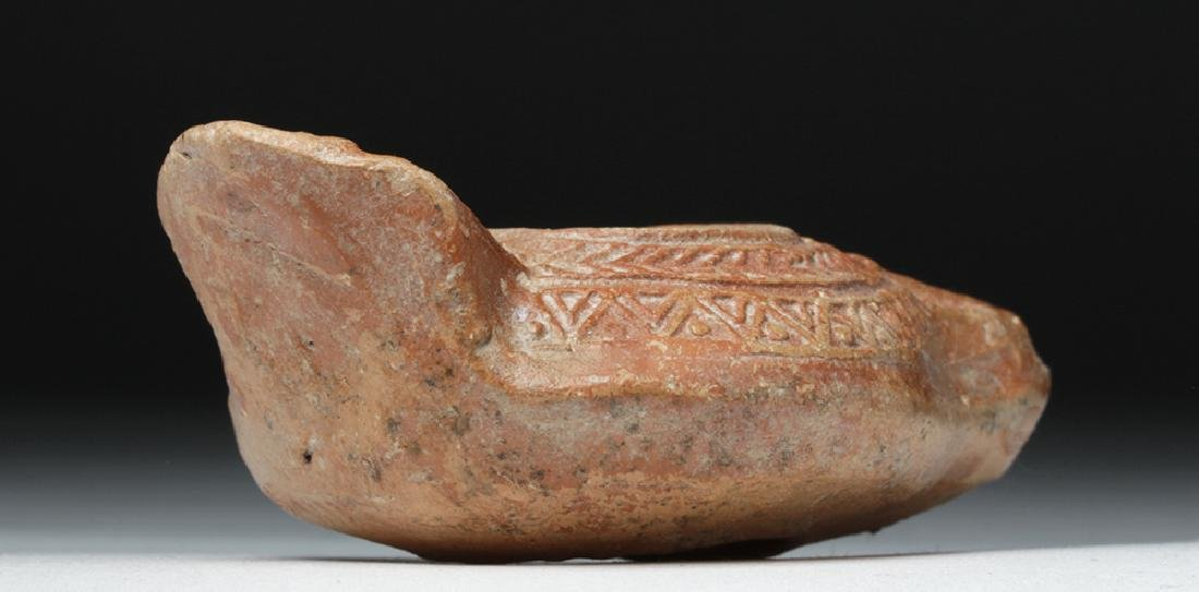 Late Roman / Early Byzantine Pottery Oil Lamp - 4