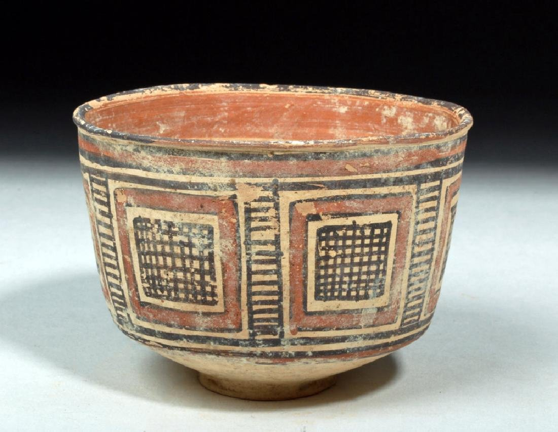 Indus Valley / Harappa Geometric Pottery Bowl