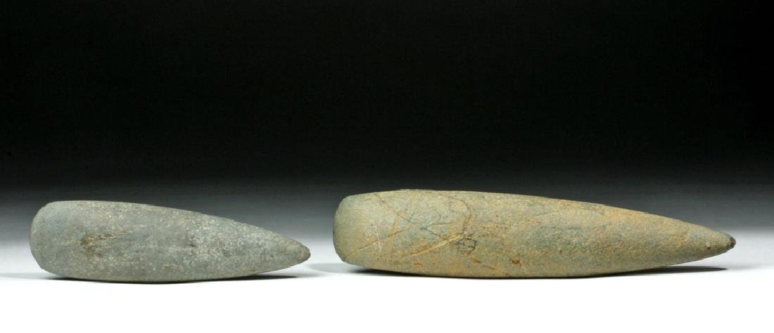 Pair of Native American Poled Greenstone Celts
