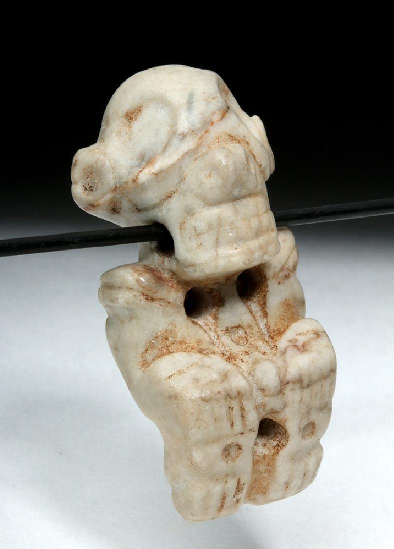 Rare Taino Carved Stone Zemi Amulet - 3