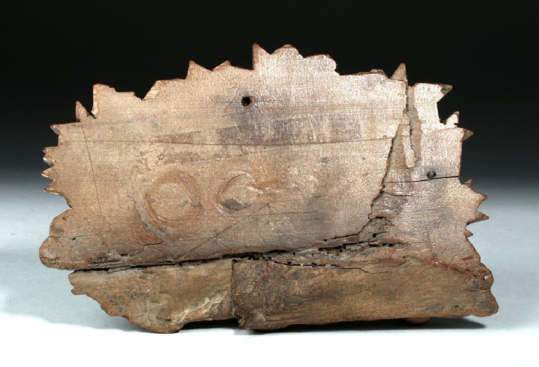 18th C. Spanish Colonial Wooden Santo - Lamb - 4