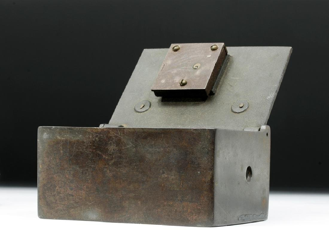 19th C. Metal Bank Lock Box - Ex Historia - 2