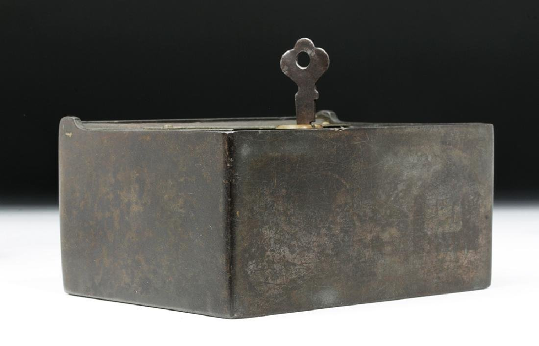 19th C. Metal Bank Lock Box - Ex Historia - 6