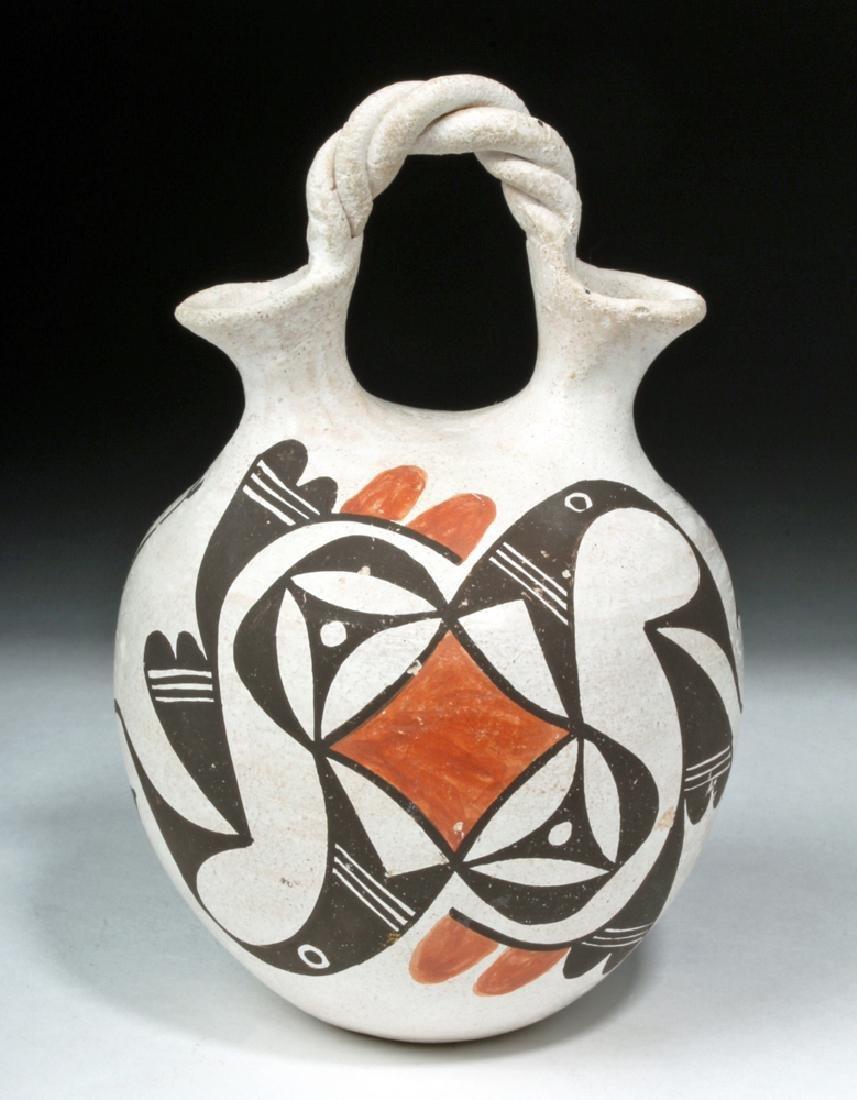 Mid-20th C. Acoma Pottery Wedding Vase - Hampton