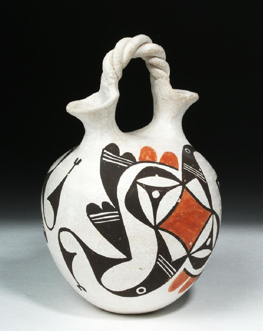 Mid-20th C. Acoma Pottery Wedding Vase - Hampton - 2