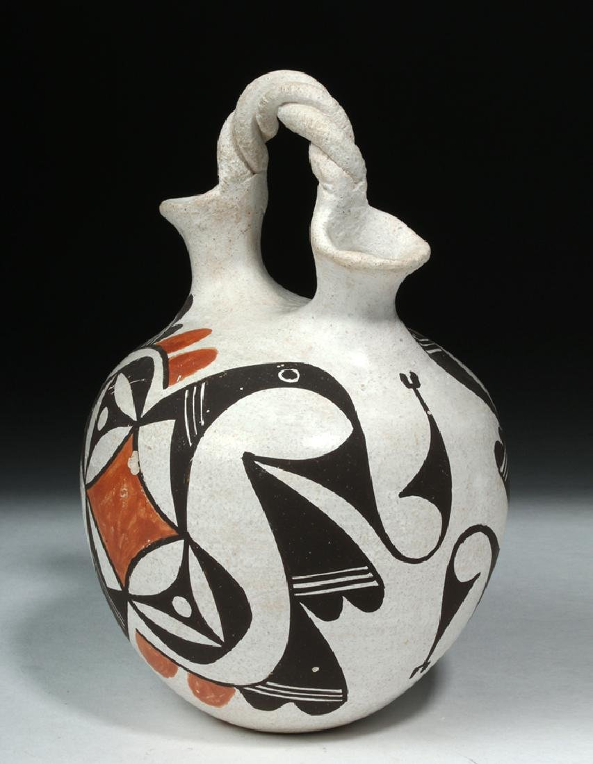 Mid-20th C. Acoma Pottery Wedding Vase - Hampton - 3