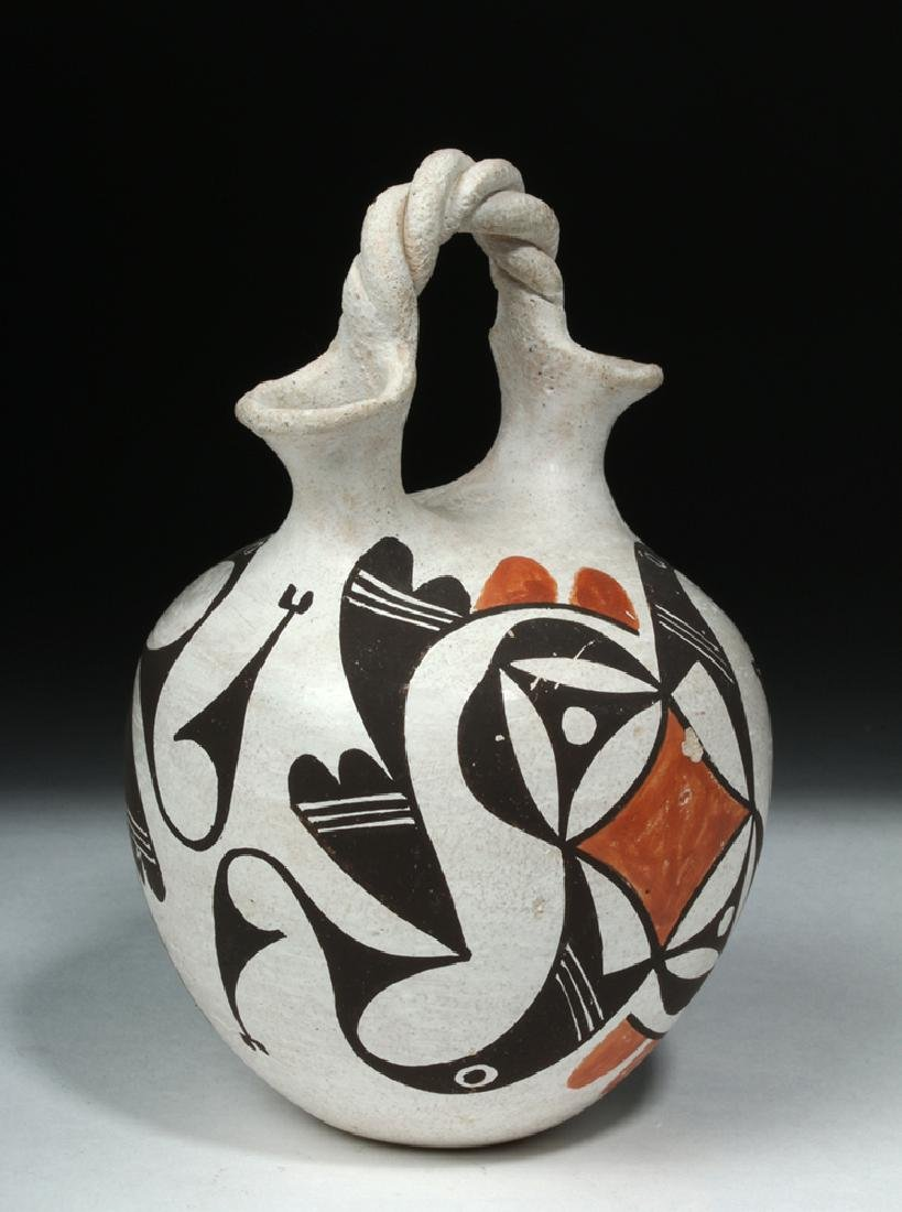 Mid-20th C. Acoma Pottery Wedding Vase - Hampton - 4