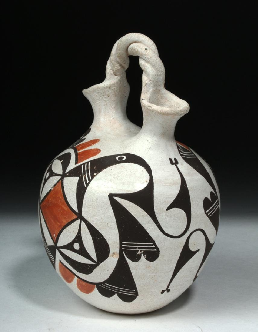 Mid-20th C. Acoma Pottery Wedding Vase - Hampton - 5