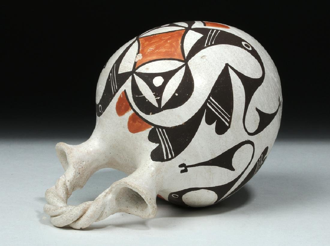 Mid-20th C. Acoma Pottery Wedding Vase - Hampton - 6