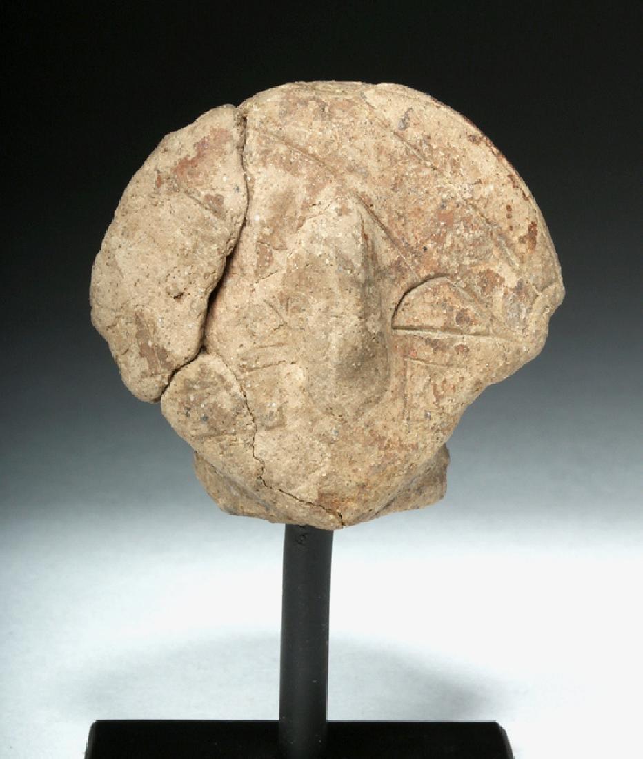 Ancient Vinca Pottery Head
