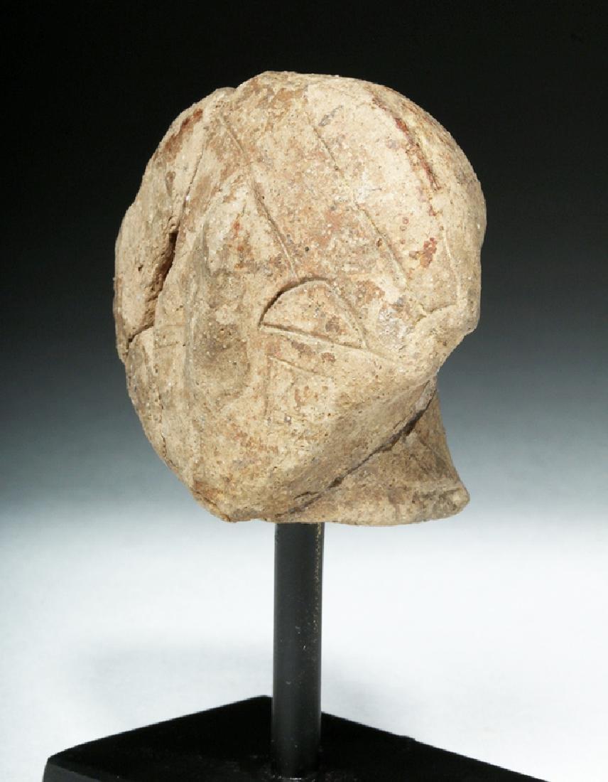 Ancient Vinca Pottery Head - 2