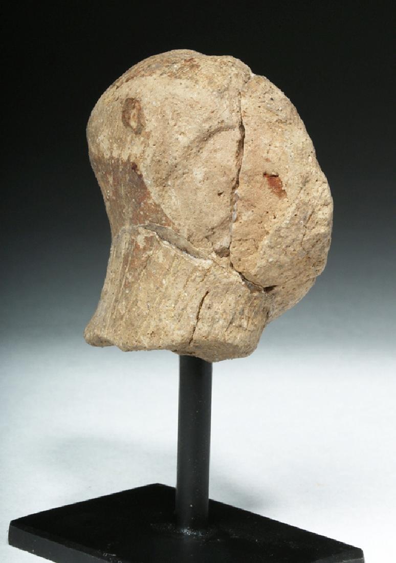 Ancient Vinca Pottery Head - 4