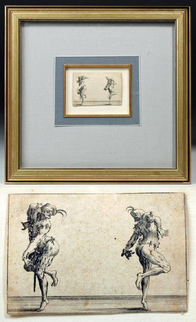 Original 17th C. French Jacques Callot Etching