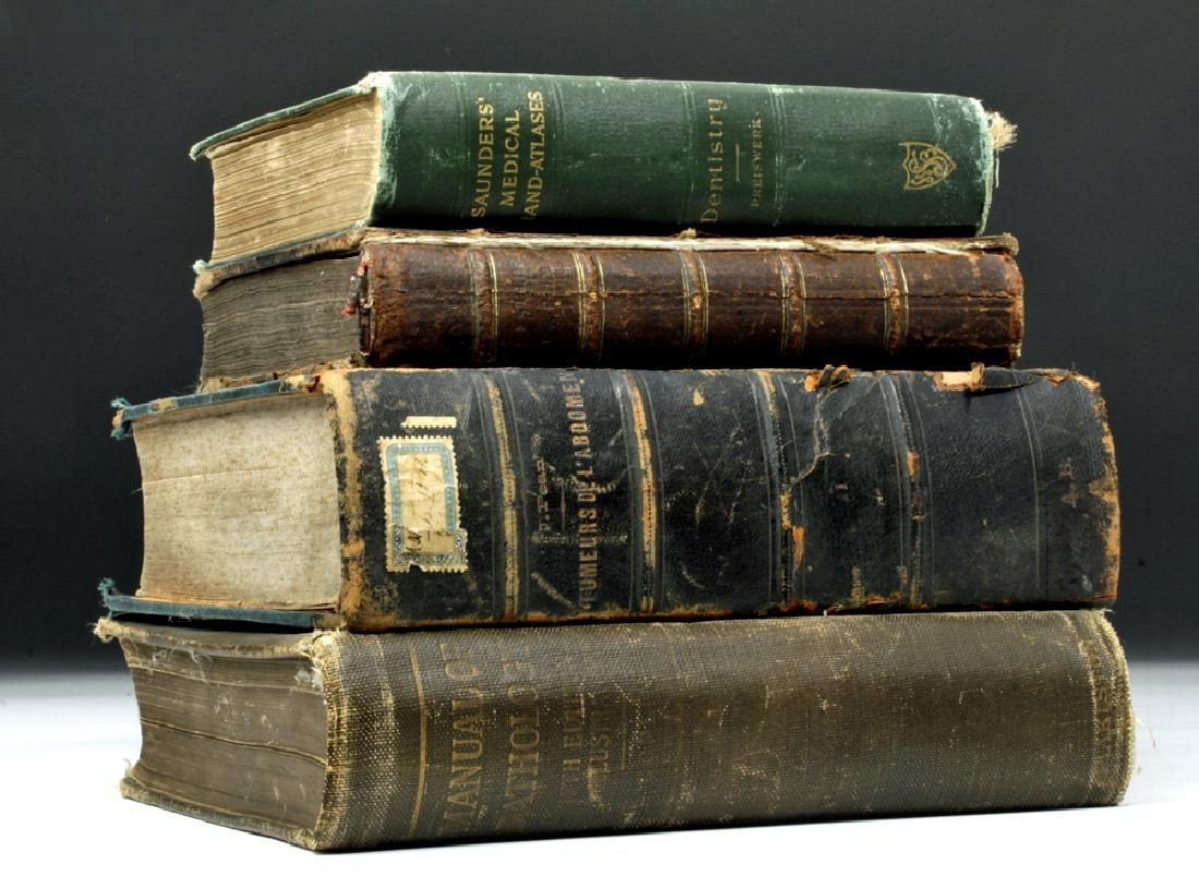 18th to 20th C. Four Medical Textbooks, ex-Historia