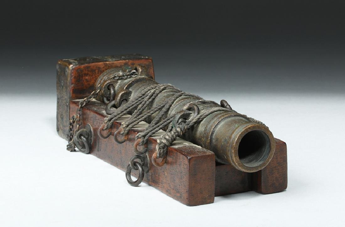 19th C. French Bronze Signal Cannon - 2