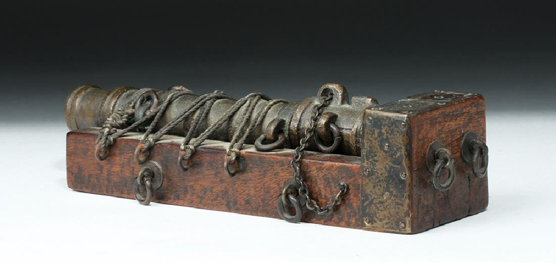 19th C. French Bronze Signal Cannon - 5