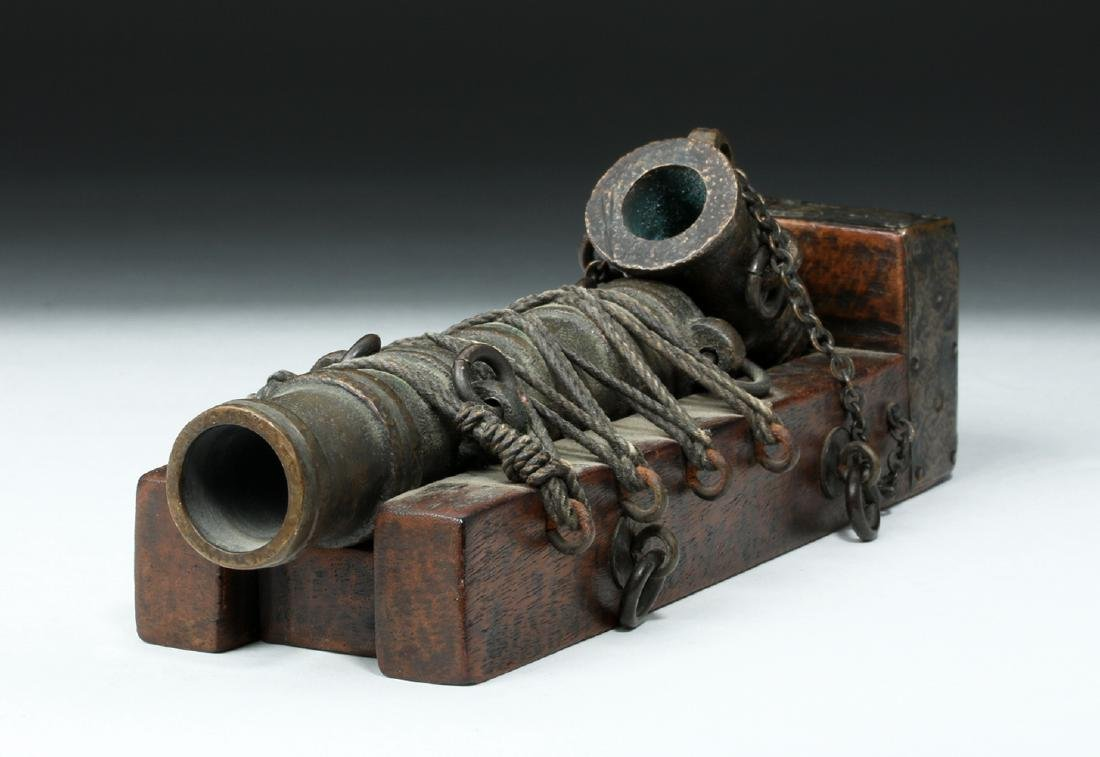19th C. French Bronze Signal Cannon - 6