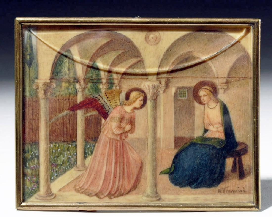 19th C. Souvenir Card - Fra Angelico's Annunciation