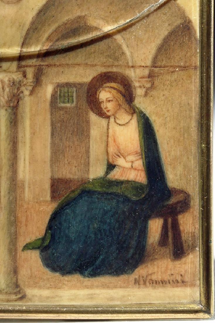 19th C. Souvenir Card - Fra Angelico's Annunciation - 3
