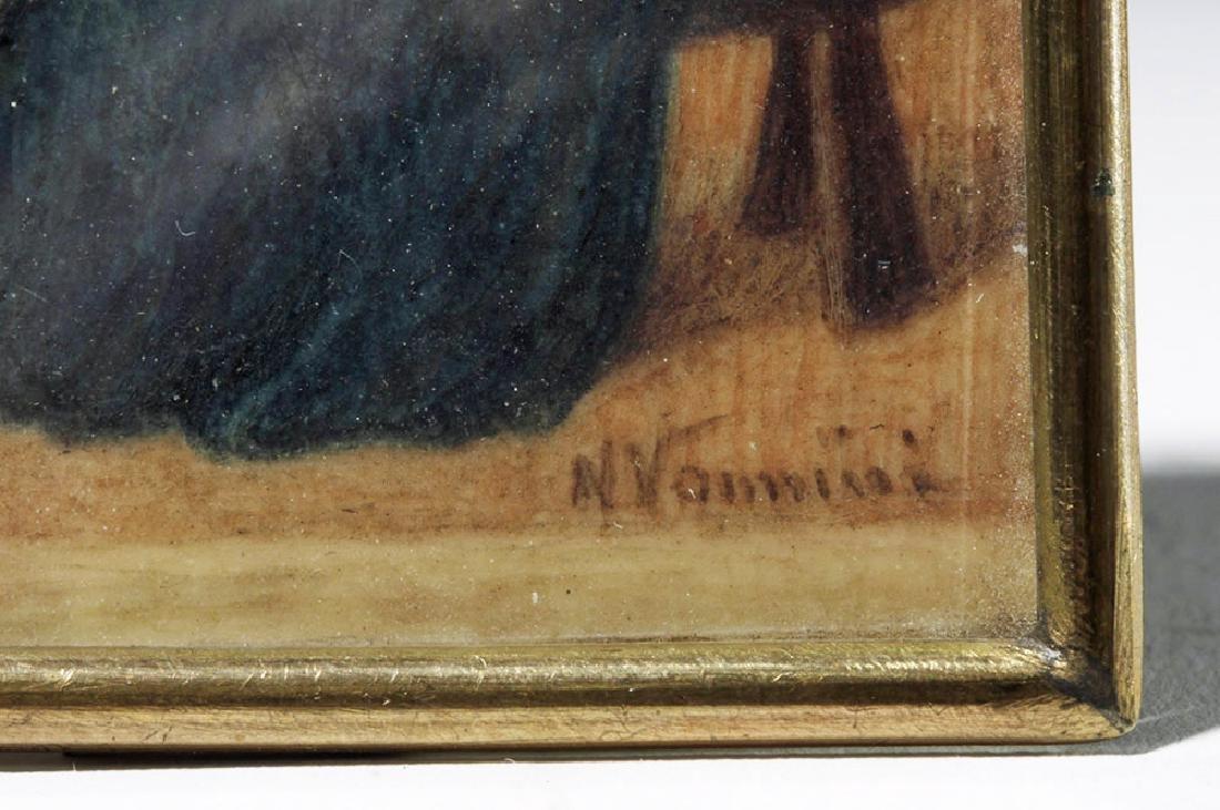 19th C. Souvenir Card - Fra Angelico's Annunciation - 4