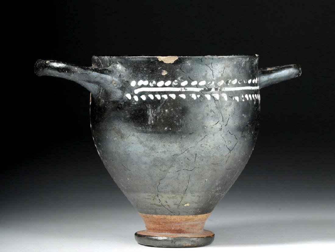 Greek Gnathian Pottery Skyphos with Grape Vines - 2