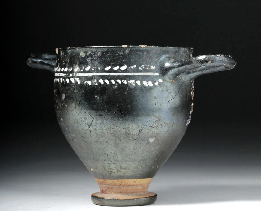 Greek Gnathian Pottery Skyphos with Grape Vines - 3