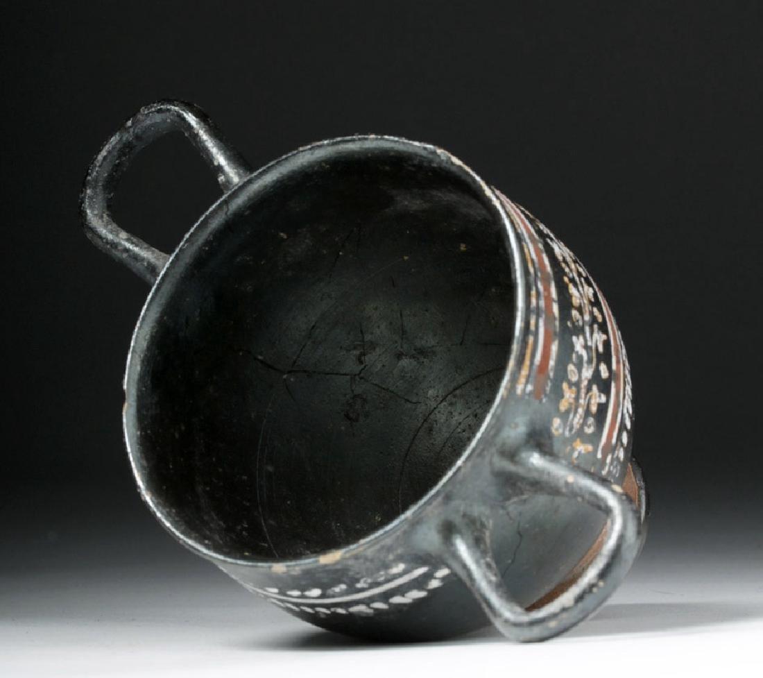 Greek Gnathian Pottery Skyphos with Grape Vines - 6
