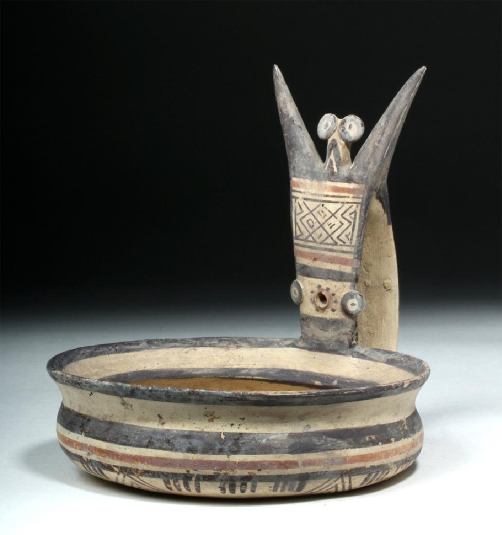 Daunian Pottery Kyathos w/ Owl Handle