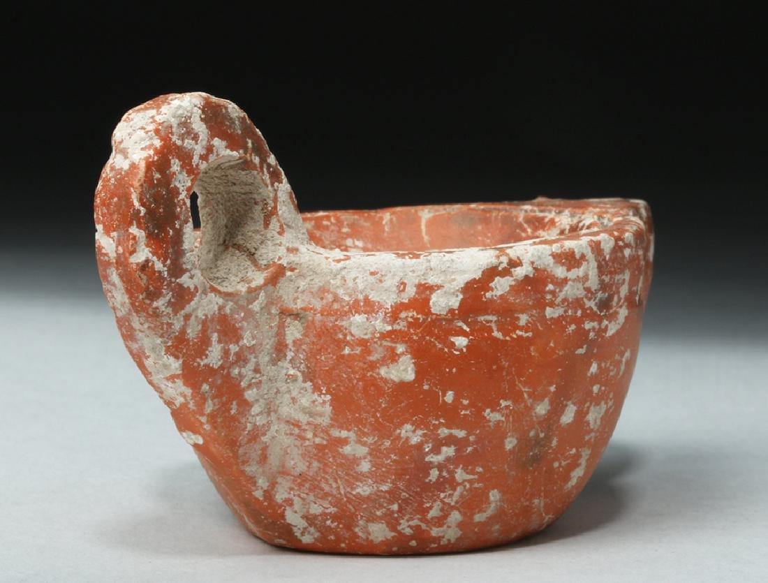 Roman Redware Oil Lamp - Deep Discus - 6