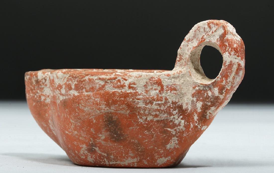 Roman Redware Oil Lamp - Deep Discus - 7