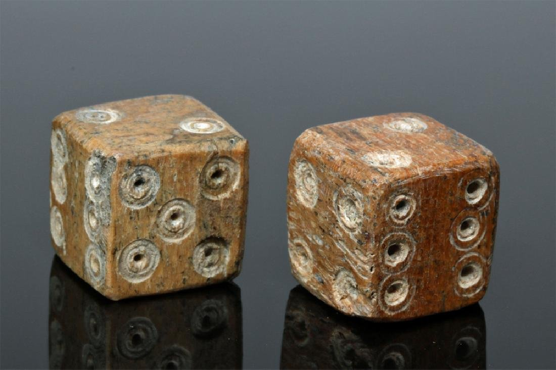 Pair of Roman Ungulate Bone Dice