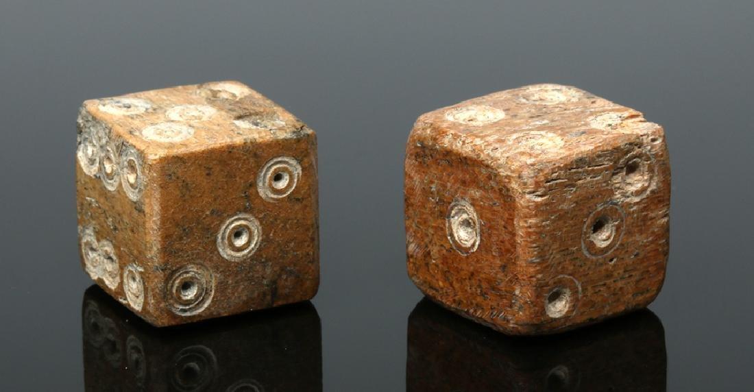 Pair of Roman Ungulate Bone Dice - 2