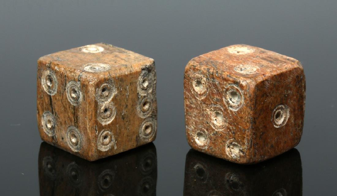 Pair of Roman Ungulate Bone Dice - 3