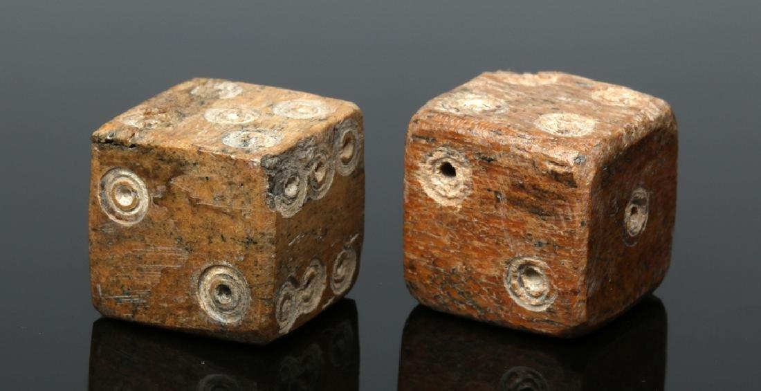 Pair of Roman Ungulate Bone Dice - 4