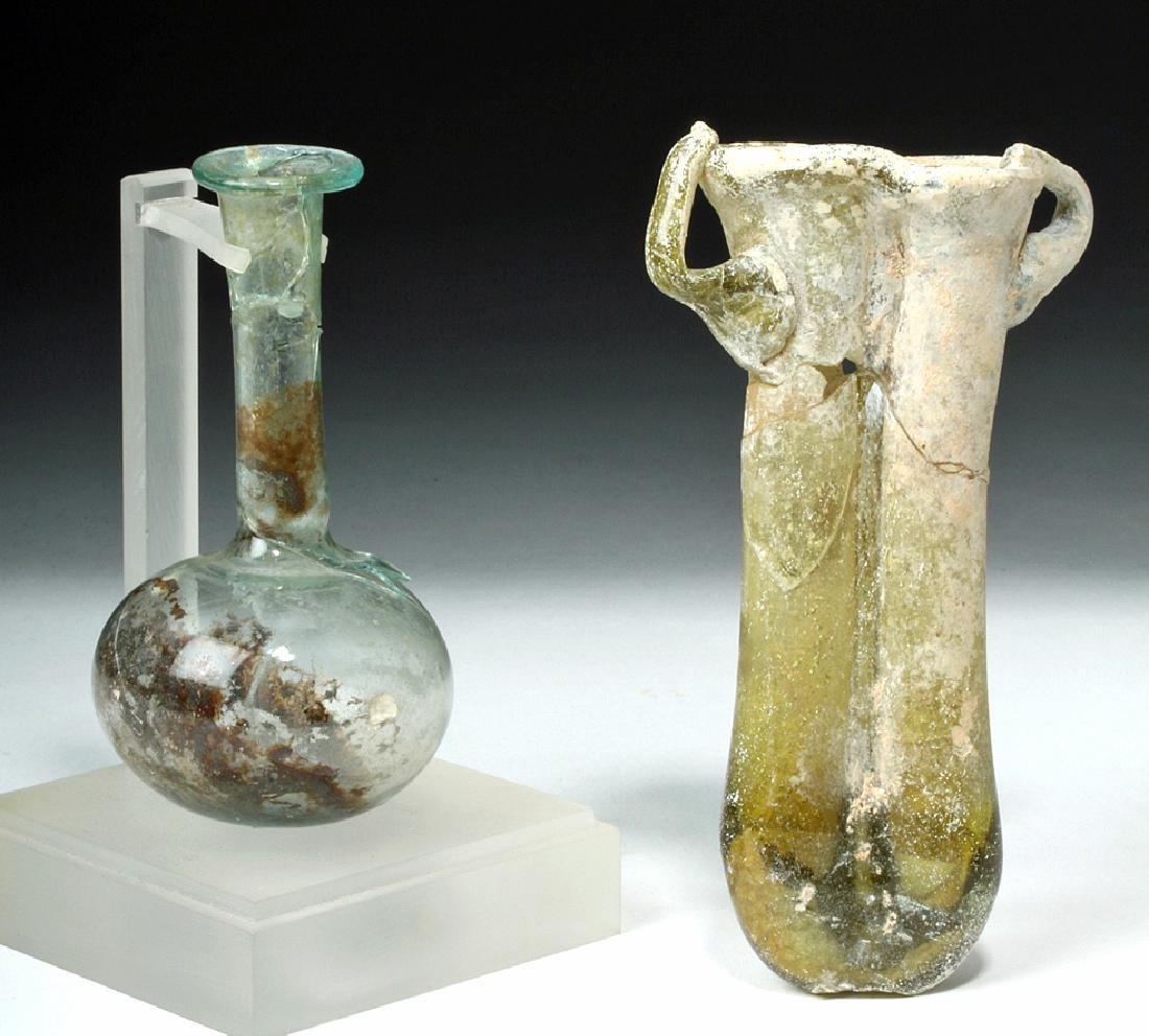 Roman Glass Vial & Double Balsamarium