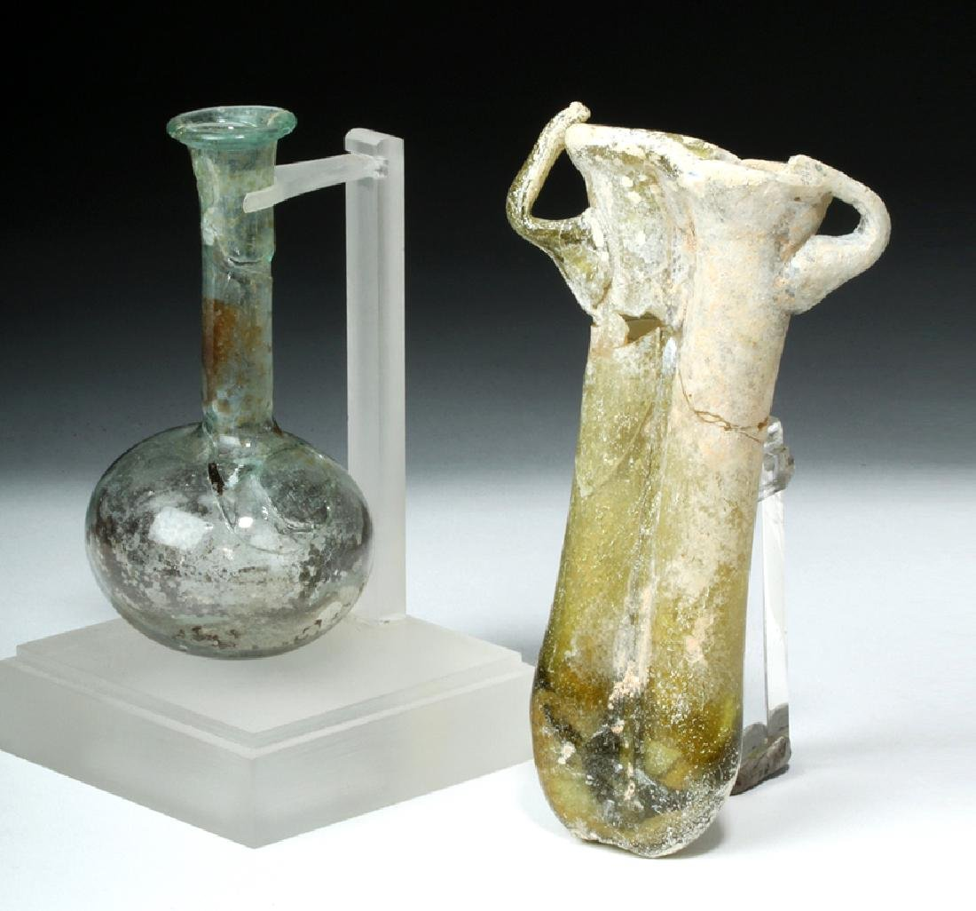 Roman Glass Vial & Double Balsamarium - 2