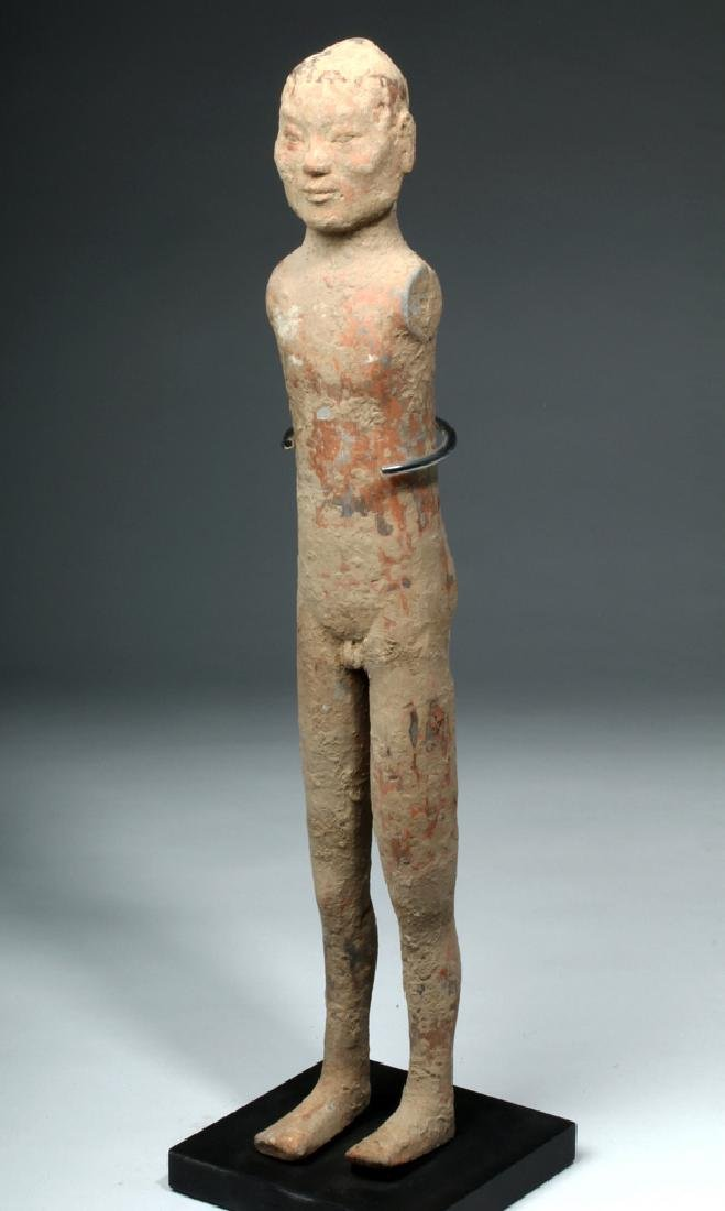 Chinese Han Dynasty Pottery Standing Male