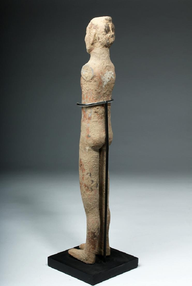 Chinese Han Dynasty Pottery Standing Male - 3