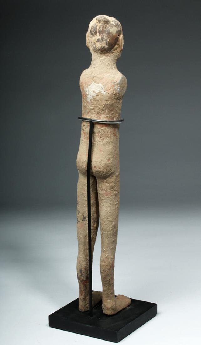 Chinese Han Dynasty Pottery Standing Male - 4