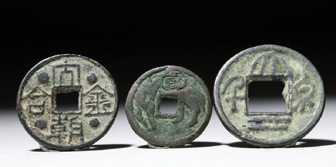 Lot of 5 Chinese Song Dynasty Bronze Charms & Tokens - 3